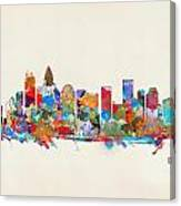 Charlotte Skyline North Carolina Canvas Print