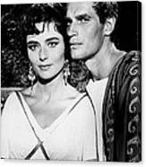 Charlton Heston And Marina Berti Canvas Print