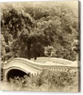Charm Of Bow Bridge Canvas Print