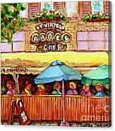 Charming French Cafe Scenes St Viateur Bagel Monkland
