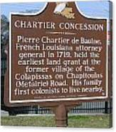 Chartier Concession Canvas Print