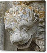 Chartres Cathedral Carved Head Canvas Print