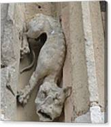 Chartres Cathedral Dog Gargoyle Canvas Print