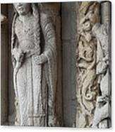 Chartres Cathedral Female Pilgrim Canvas Print