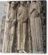 Chartres Cathedral Saints Canvas Print