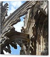 Chartres Flying Buttress Canvas Print