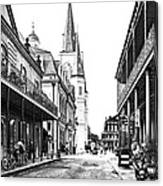 Chartres St In The French Quarter 3 Canvas Print