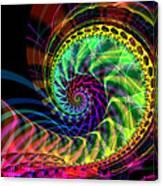 Chartreuse Twist  Canvas Print
