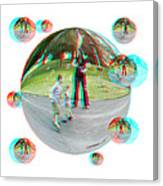 Chasing Bubbles - Red/cyan Filtered 3d Glasses Required Canvas Print