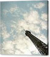 Chasing The Dream Paris Eiffel Tower Canvas Print