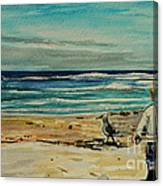 Chasing The Seagull Canvas Print