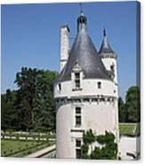 Chateau Chenonceau Tower And Moat Canvas Print