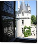Chateau Chenonceau Tower Through Open Window  Canvas Print