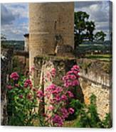 Chateau Chinon In The Loire Valley Canvas Print