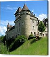 Chateau De Cleron Dans Le Doubs France Canvas Print