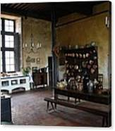Chateau De Cormatin Kitchen - Burgundy Canvas Print
