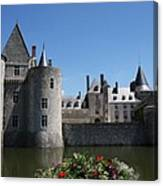 Chateau De Sully-sur-loire View Canvas Print