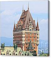 Chateau Frontenac Quebec City Canada Canvas Print