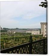 Chateau Vilandry And Garden View Canvas Print