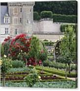 Chateau Villandry And The Cabbage Garden  Canvas Print