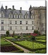 Chateau Villandry - Usefulness And Ornament  Canvas Print