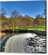 Chatsworth Weir Canvas Print
