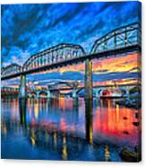 Chattanooga Sunset 3 Canvas Print