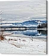 Chatuge Dam Winter Vista Canvas Print