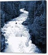 Cheakamus Glacial River - Whistler Canvas Print