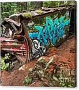 Cheakamus River Train Derailment Canvas Print
