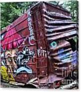 Cheakamus Box Car Graffiti Canvas Print