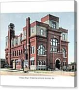 Cheboygan Michigan - Opera House And City Hall - Huron Street - 1905 Canvas Print