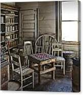 Checker Game Setting In A Back Room No. 3105 Canvas Print