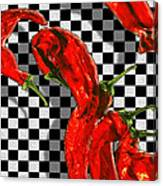 Checker Peppers Canvas Print