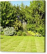 Checkerboard Lawn Canvas Print