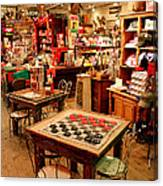 Checkers At Jefferson General Store Canvas Print