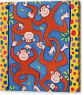 Cheeky Monkeys Wc Canvas Print