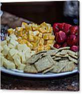 Cheese And Strawberries Canvas Print