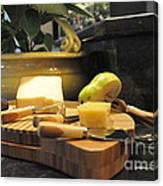 Cheeses And Fruit Canvas Print