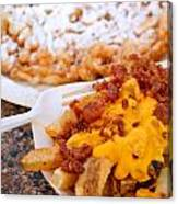 Cheesy Bacon Fries And Funnel Cake Canvas Print