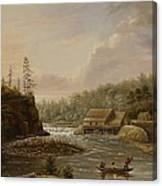 Cheevers Mill On The St. Croix River Canvas Print