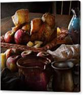 Chef - Food - A Tribute To Rembrandt - Apples And Rolls  Canvas Print