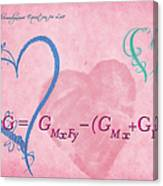 Chemical Thermodynamic Equation For Love 2 Canvas Print