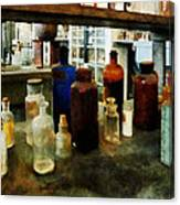 Chemistry - Assorted Chemicals In Bottles Canvas Print