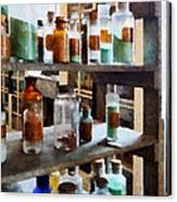 Chemistry - Bottles Of Chemicals Canvas Print