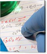 Chemistry Formulas In Science Research Lab Canvas Print