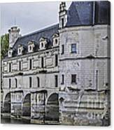 Chenonceau And River Cher Canvas Print