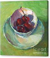 Cherries In A Cup #2 Canvas Print