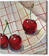 Cherry Talk By Irina Sztukowski Canvas Print