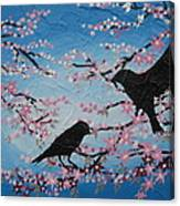 Cherry Blossom Birds Canvas Print